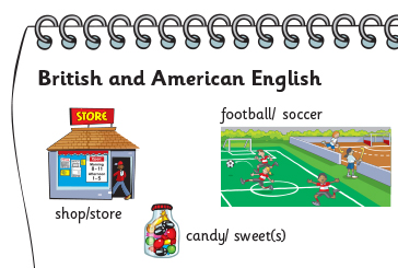 Some differences between British and American English