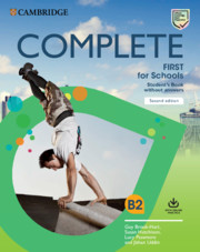 Complete first for schools 2nd edition book cover