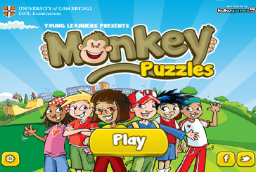 Monkey Puzzles World Tour English language game
