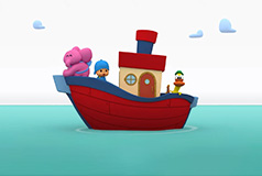 Pocoyo ship at sea