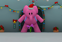 Pocoyo elephant in space