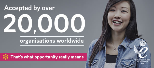 Cambridge English – accepted by over 20,000 organisations worldwide