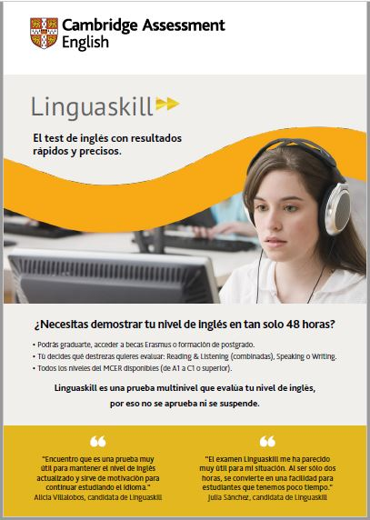 Linguaskill A5 Spanish Brochure
