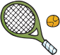 Tennis racket and ball icon - Image