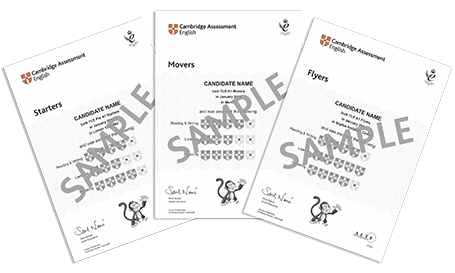 Young Learners certificates