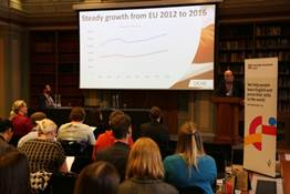 Mark Wilson, ‎International Market Manager, UCAS, addresses the audience