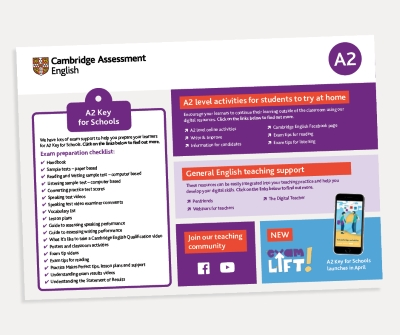 Support PDF A2 Key for Schools