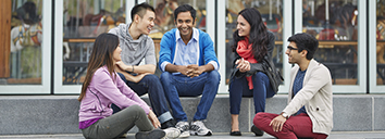 5 IELTS students speaking English