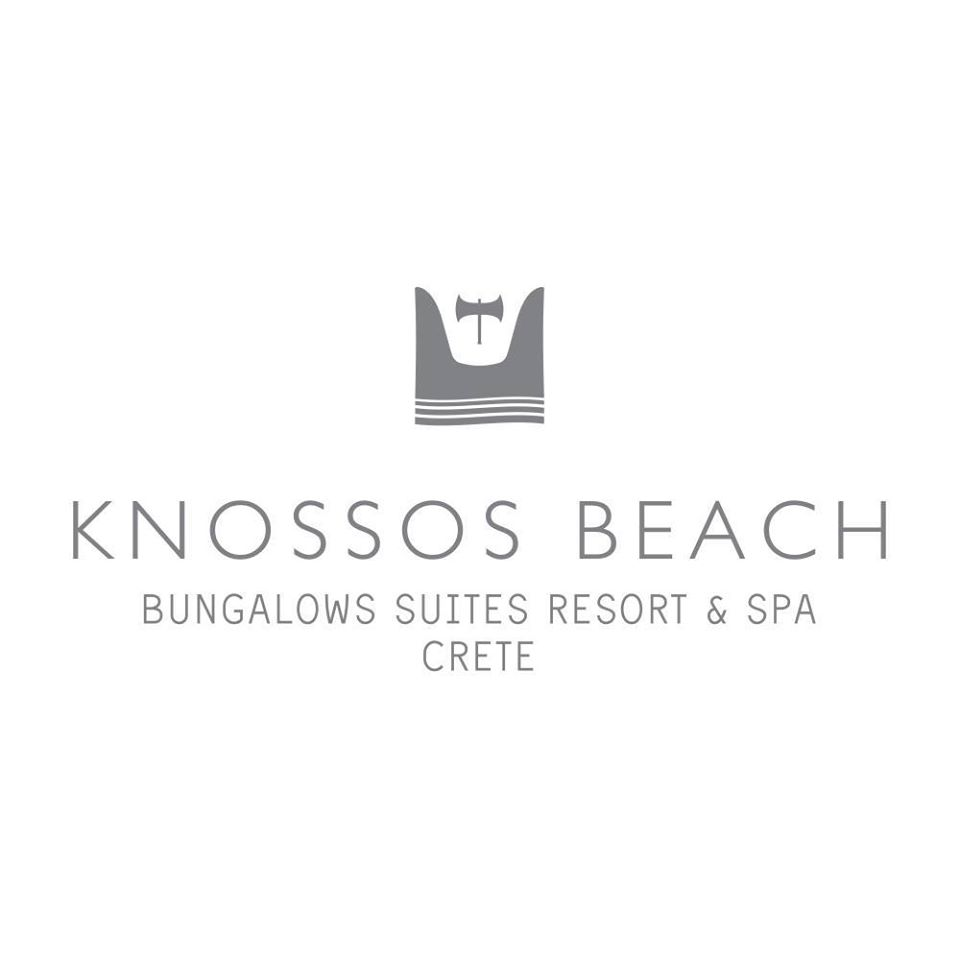 knossos beach logo greece