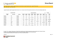 Linguaskill group report thumbnail image